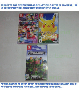 Vendo 3 Juegos Para Switch Mario Kart 8, Pokemon, Minecraft