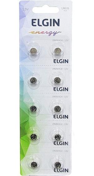 Bateria Moeda Elgin Lr626 Ag4 1.5v Cartela C/ 10pçs
