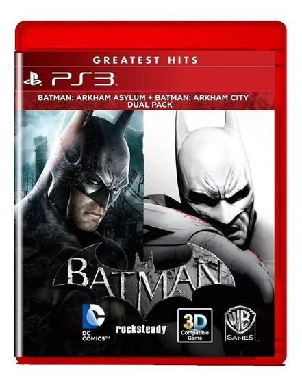 Batman Arkham Asylum E Arkham City Ps3 Midia Fisica