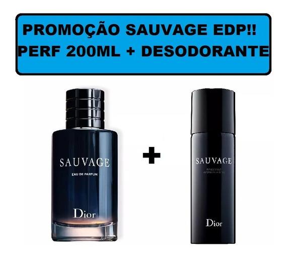 Dior Sauvage Edp 200ml + Desodorante 150ml + Brinde