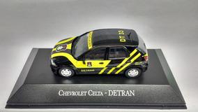 Miniatura Chevrolet Celta Detran Veículos De Serviços Altaya