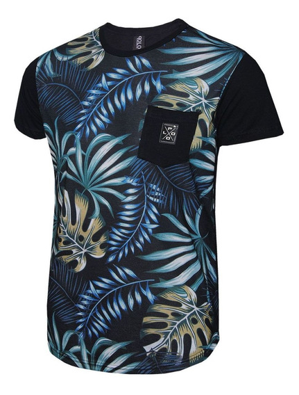 Camiseta Masculina Rg518 Leaves