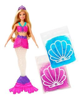 Barbie Dreamtopia, Muñeca Sirena Con Slime