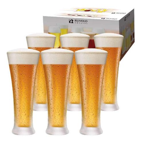 Imagem 1 de 6 de Jogo Copos Ritzenhoff Cerveja Pilsner Cristal 400ml 6 Pcs