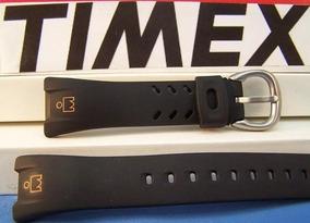 Pulseira Timex Ironman T53151 Preta Boneco Laranja Ou Branco