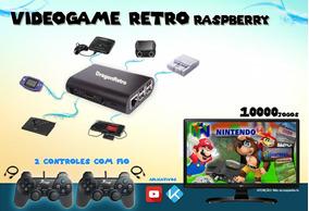 Raspberry Game Retrô 10mil Jogos 2 Controles 32gb 6.0 Promo