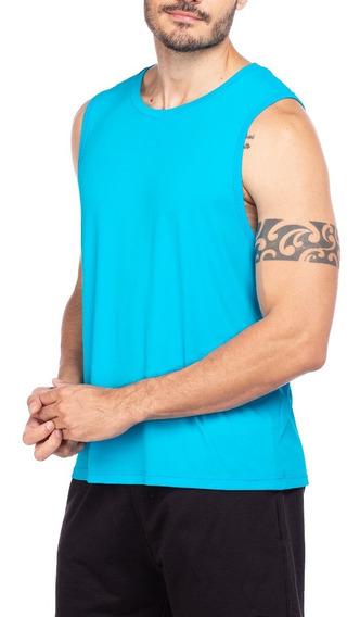 Regata Masculina Fitness Dry Fit Poliamida Esportes Academia