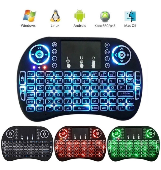 Mini Teclado Com Touch Pad Led Ltomex A-18 Tv Pc Tablet