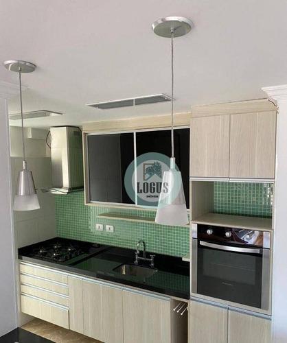 Imagem 1 de 30 de Apartamento No Condomínio São Bernardo Clube Com 70m² Composto 3 Dormitórios 1 Suítes, À Venda Por R$ 466.000,00 - Taboão - Sbc/sp - Ap1836