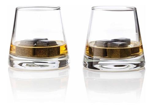 Imagen 1 de 2 de Vasos Old Fashioned Con Piedras Para Whisky Marca Viski