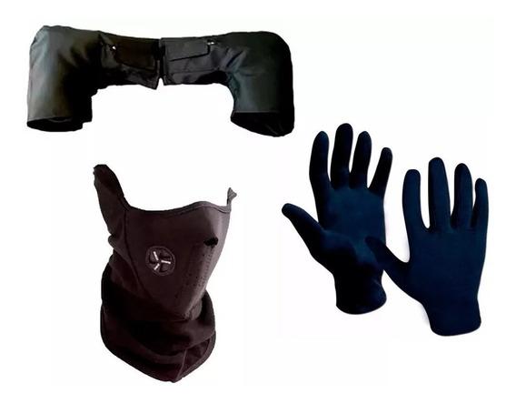 Kit Termico Cubre Manos + Guantes + Mascara Respirador - Fas