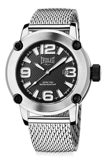 Relógio Masculino Everlast E10415 50mm Aço Prata