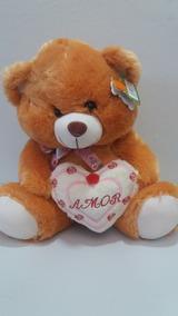 Urso De Pelúcia Com Coração Eu Te Amo Fofy