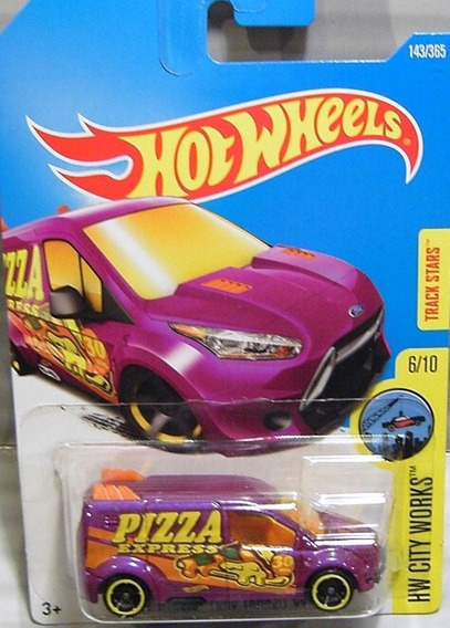 Hotwheels Ford Transit Connect #143 2017 Repartidor Pizza