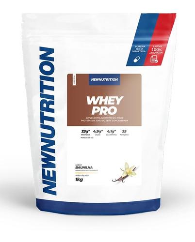 Whey Pro 60% De Proteina Baunilha 1kg Refil - Newnutrition