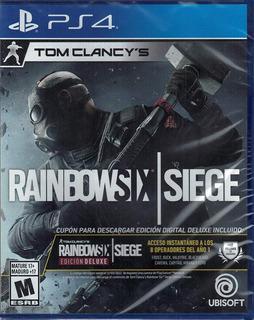 Rainbow Six Siege Deluxe Edition + 3 Meses Plus Ps4 Sellado