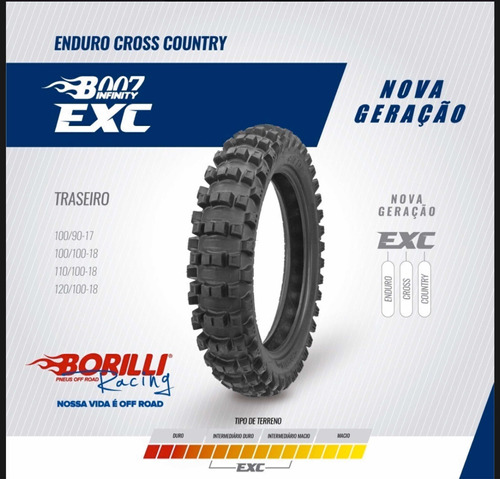 Cubierta Borilli Enduro 120-100-18