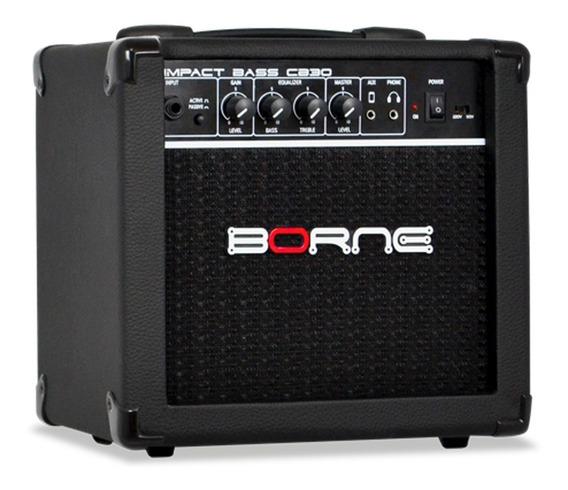 Amplificador Para Baixo Cubo Borne Cb30 15w Impact Bass