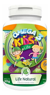 Omega 3 Kids Life Natural 30 Cápsulas