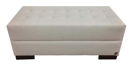 Recamier Queen Botonê Alce Couch Linho Crú 160cm
