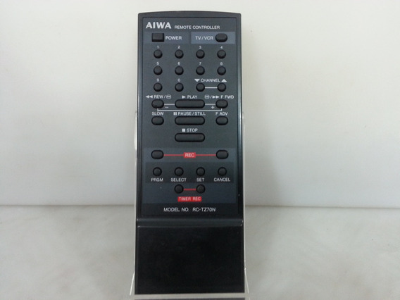 Controle Remoto Video Cassete Aiwa Rc-tz-70n Original 100%