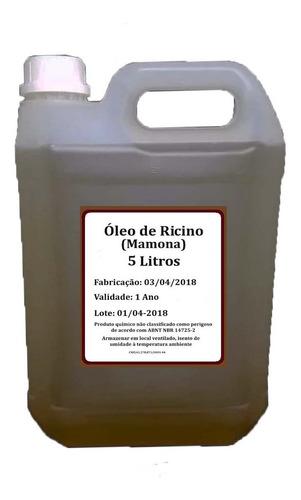 5 Lt Óleo De Rícino Puro C/ Laudo De Análise Cresc.de Cabelo