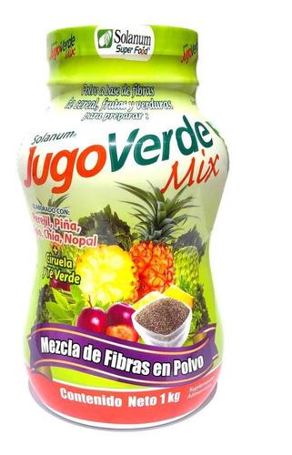 Imagen 1 de 3 de Jugo Verde Mix Fibra Para Mezclar En Polvo 1 Kg Solanum