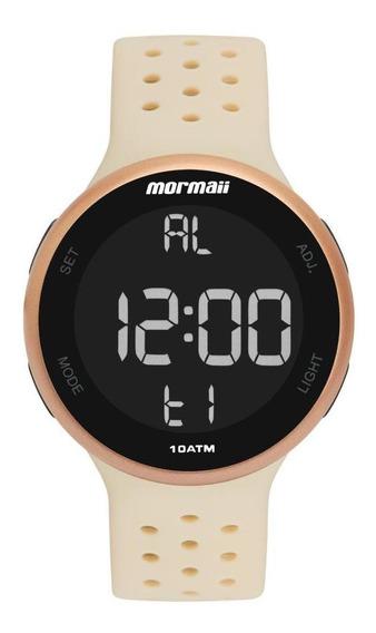 Relógio Unissex Mormaii Mo7700ad/8j 43mm Silicone Offwhite