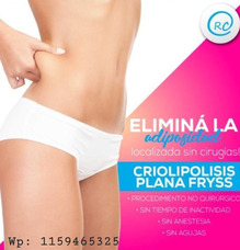 Criolipolisis Plana Hasta 3 Zonas Por Sesion! $1100 Efectivo