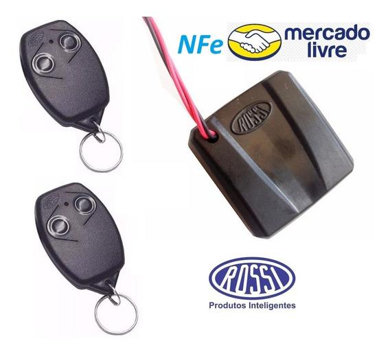 2 Controles Chaveiro + 1 Tx Car Hcs Rossi Portão Eletrônico
