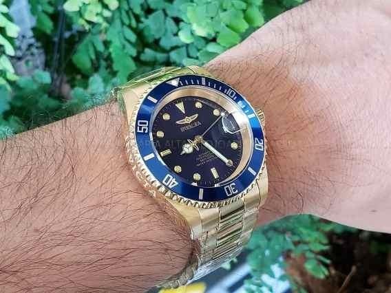 Relógio Invicta Prodiver Automático 8930ob Azul Dourado