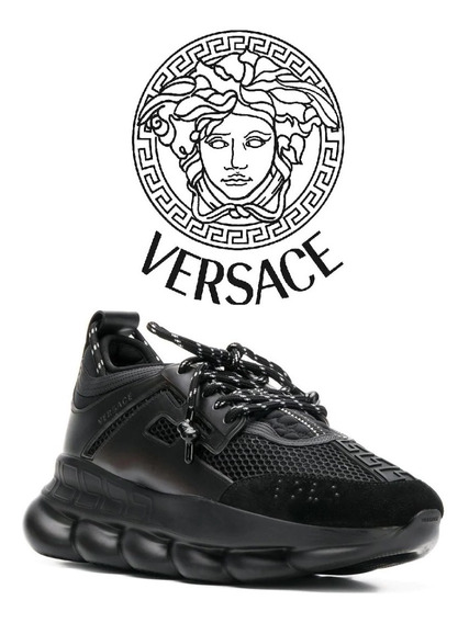 Versace Tênis Chain Reaction Black
