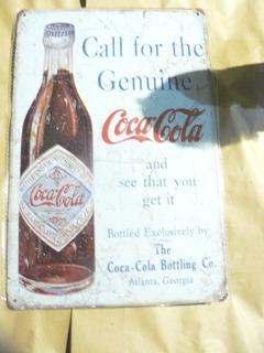 Cartel De Chapa Coca Cola Retro Impreso No Plotter 30x 20 Cm