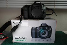 Canon 60d (corpo) Com 2 Baterias E Controle Remoto