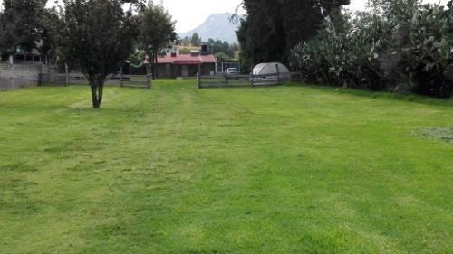 Terreno Y Cabaña En Venta En Miraflores, Chalco.