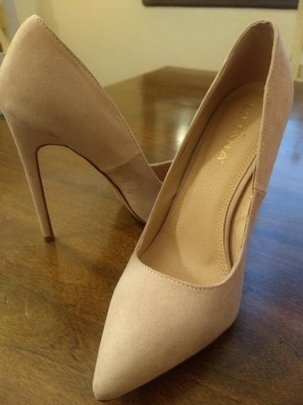 Zapatos Punta Aguda Color Nude Dama