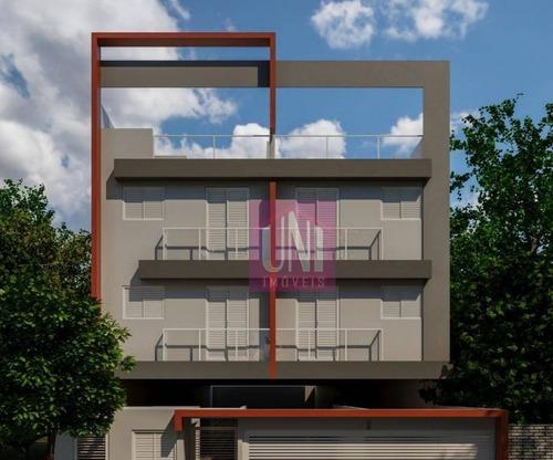 Apartamento Com 2 Dormitórios À Venda, 39 M² Por R$ 269.000,00 - Campestre - Santo André/sp - Ap1853