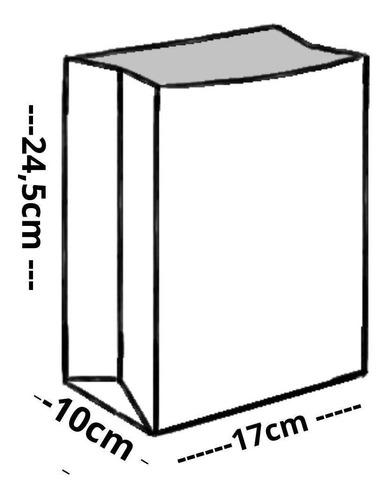 Imagem 1 de 1 de Sacola Saco Kraft Pequeno  Delivery Lanche 100 Un 17x10x24