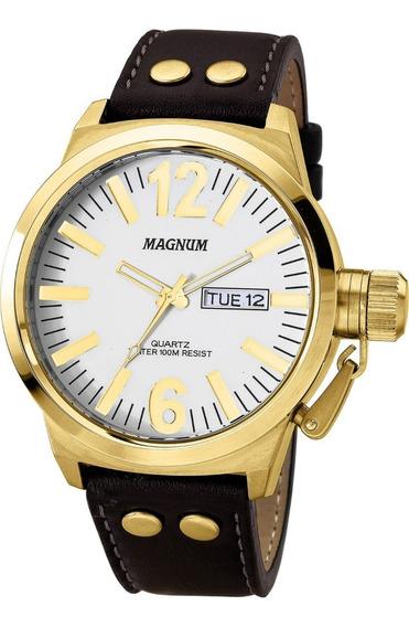 Relógio Magnum Masculino Ma31524b - Puceira De Couro