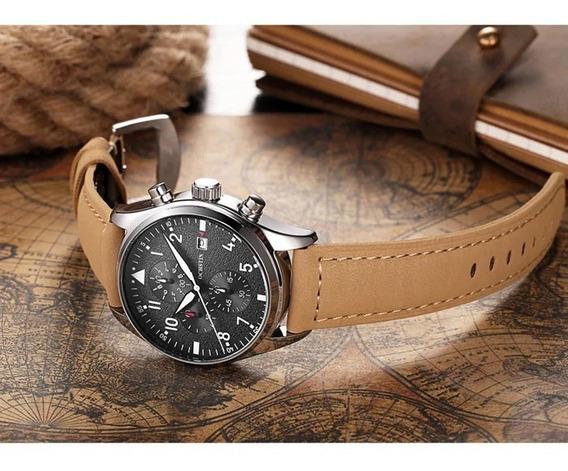 Relógios Ochstin Em Couro Legitimo Caixa Original Funcional