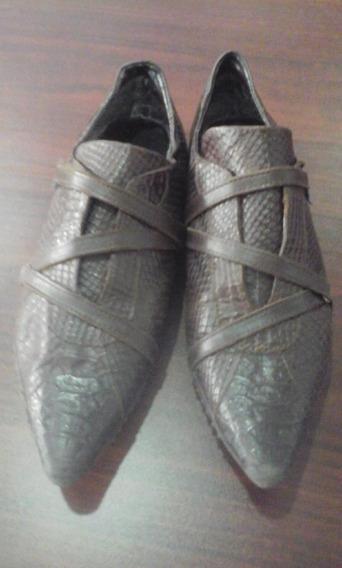 Zapatillas Cuero Croco Adso 39