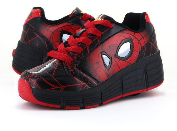 Spider Man Tenis Patin Negro
