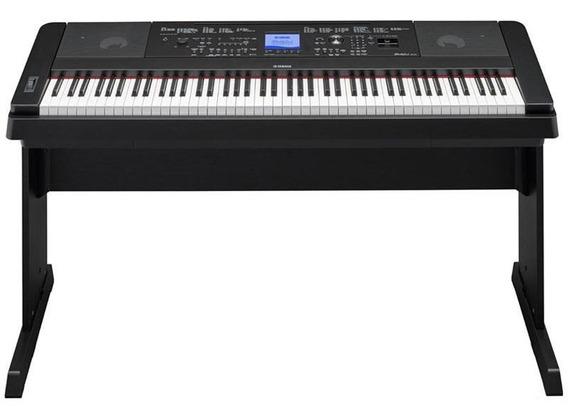 Piano Digital Yamaha Dgx660 Preto 88 Teclas Com Estante