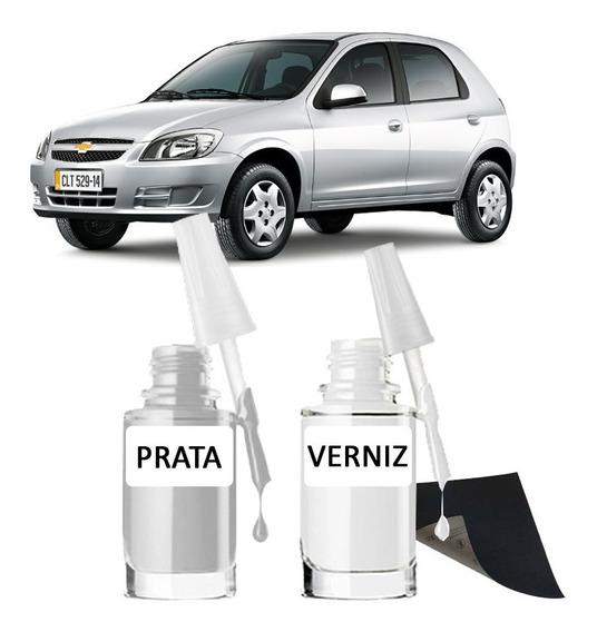Tinta Tira Risco Automotivo Chevrolet Celta Prata Switchblade 2006 2007 2008 2009 2010 2011 2012 2013 2014 2015 2016