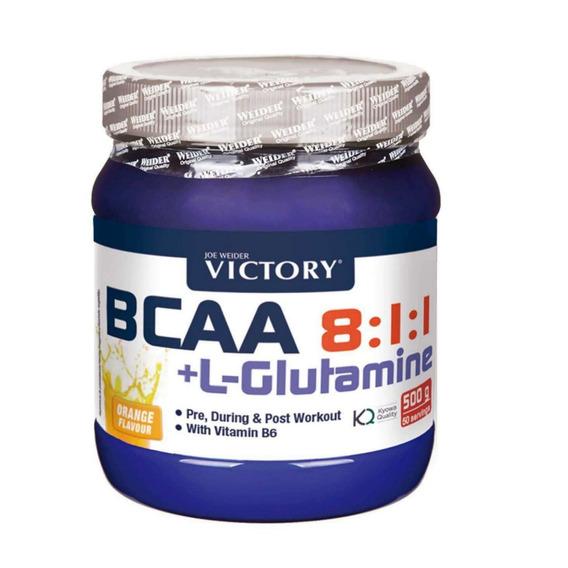 Aminoacidos Bcaa 8.1.1 + Glutamina Pre Entreno Victory