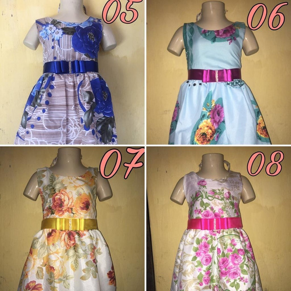 Kit 40 Vestidos Infantis Estampado