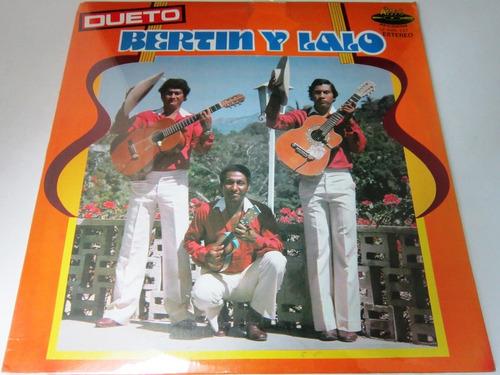 Dueto Bertin Y Lalo - Las Flores De La Costa  Pro Cerrado Lp