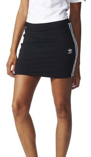 Falda adidas Stripes Negro Mini Mujer Fashion Sport Original
