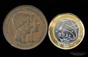 Rara Moeda De Bronze Bélgica 1853