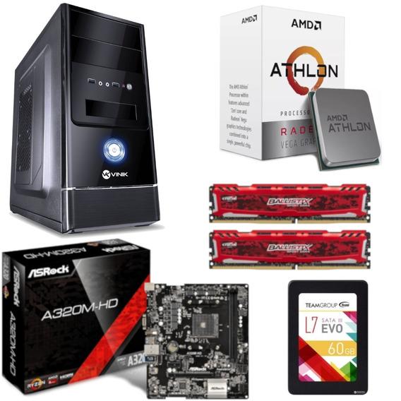 Pc Completo G1 One Athlon 200ge A320m Hd Bl 16gb Ssd 60gb